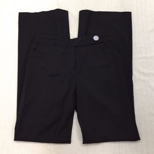 TORY BURCH black flare leg career trouser pants